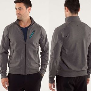 Lululemon Trainer Jacket Heathered Soot Men Medium